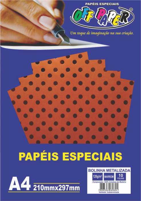 Papel Bolinha Metalizada A4 120g - Off Paper