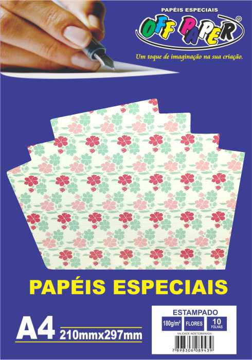 Papel Estampado A4 180g - Off Paper