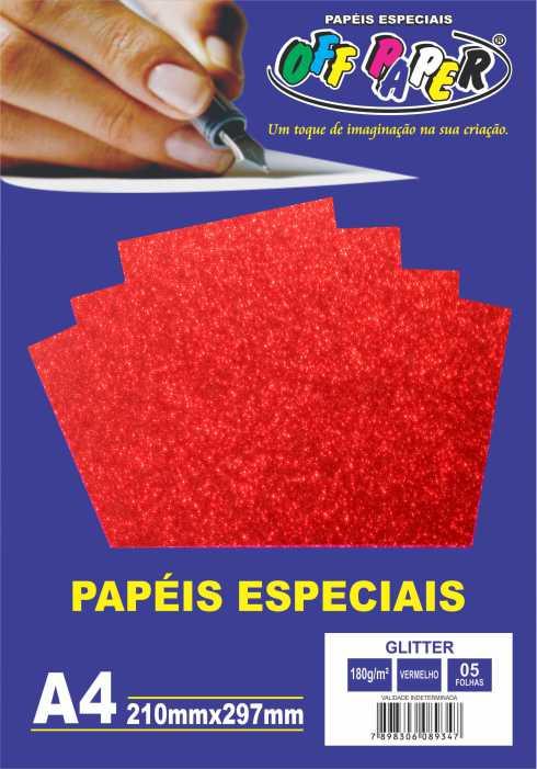 Papel Glitter A4 180g - Off Paper