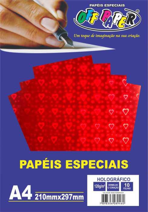 Papel Holográfico A4 120g - Off Paper