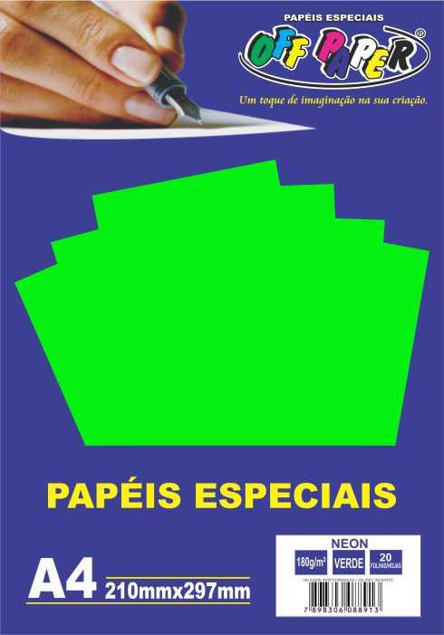 Papel Neon A4 180g - Off Paper
