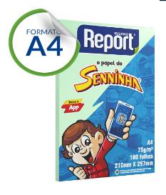Papel Sulfite A4 com 100 Verde Senninha Report