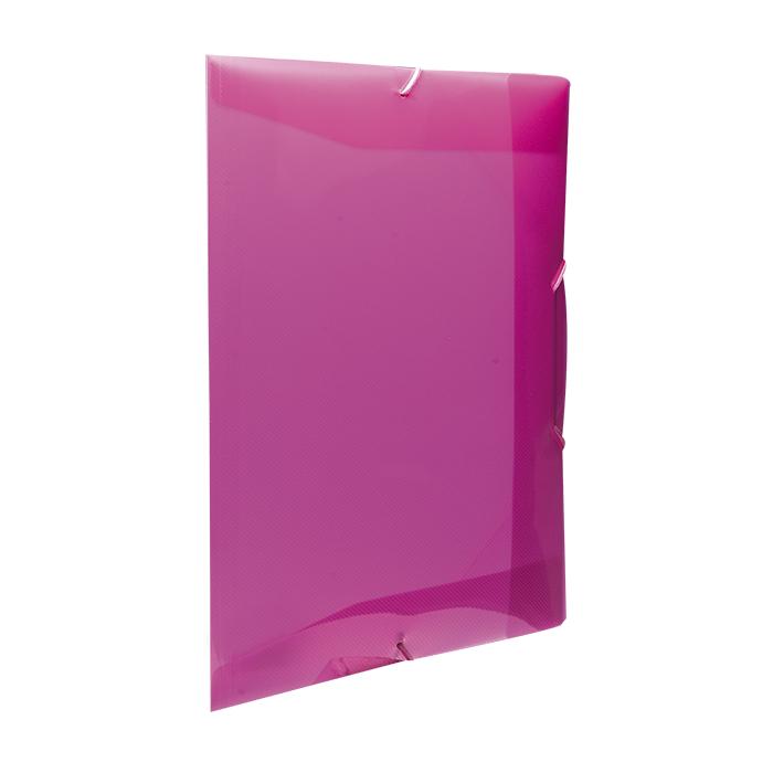 Pasta Plástica com Elástico Ofício - Rosa