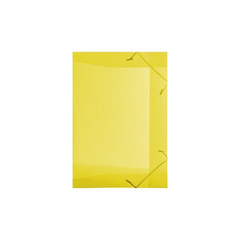 Pasta Plástica com Elástico Pequena - Amarela