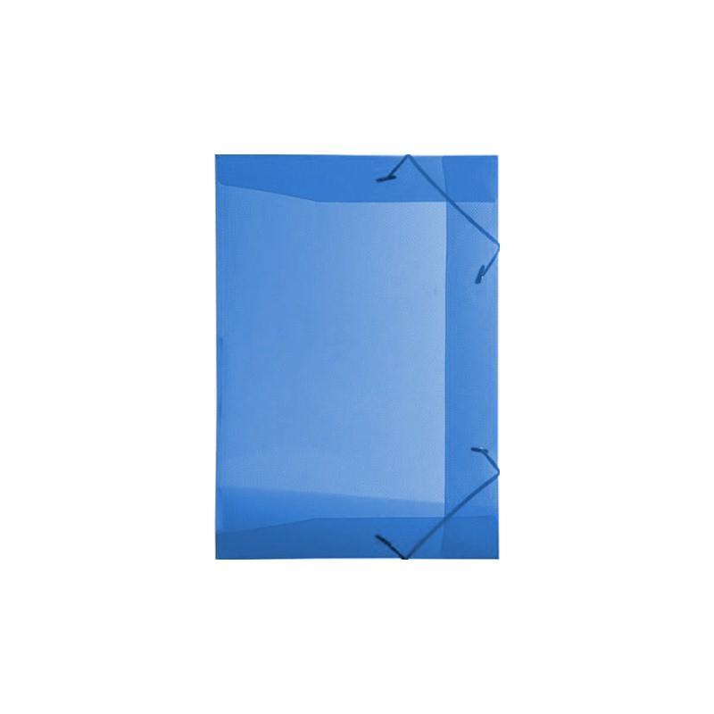 Pasta Plástica com Elástico Pequena - Azul