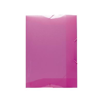 Pasta Plástica com Elástico Pequena - Rosa