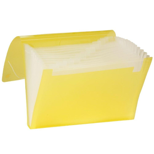 Pasta Sanfonada Ofício 12 Divisórias - Amarela