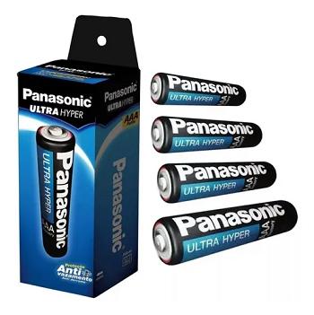 Pilha Panasonic AAA Palito com 4