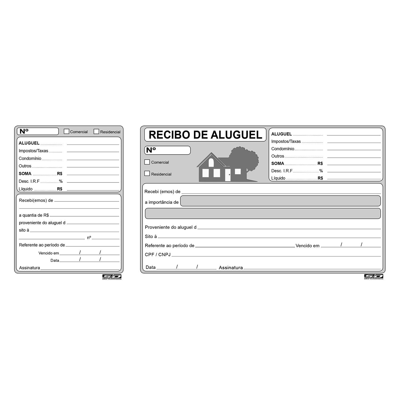 Recibo de Aluguel com Canhoto São Domingos