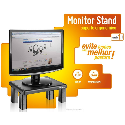 Suporte Quadrado Para Monitor De Mesa Multilaser Ref. Ac125