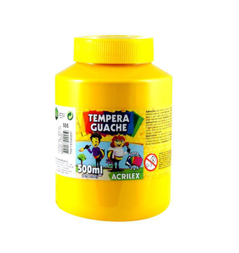 Tinta Guache 500ml Acrilex - Amarelo