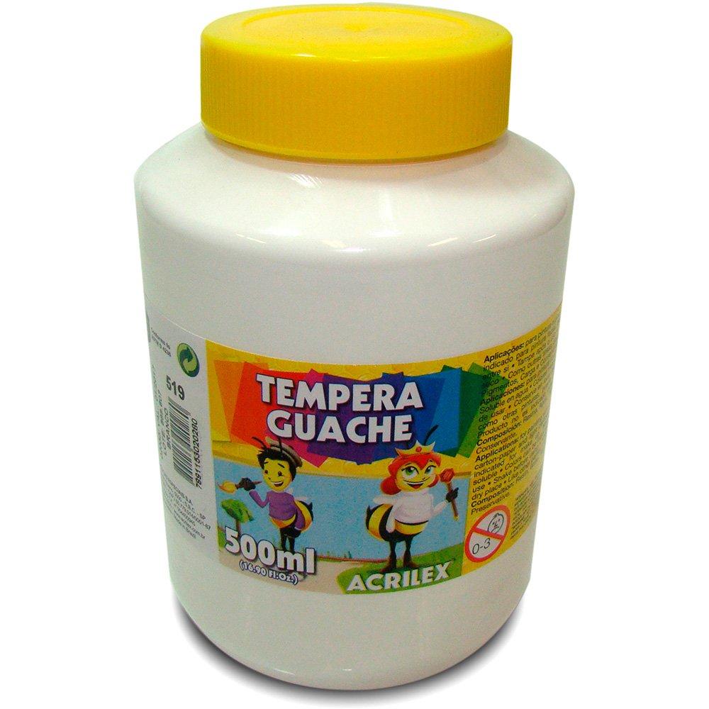 Tinta Guache 500ml Acrilex - Branco