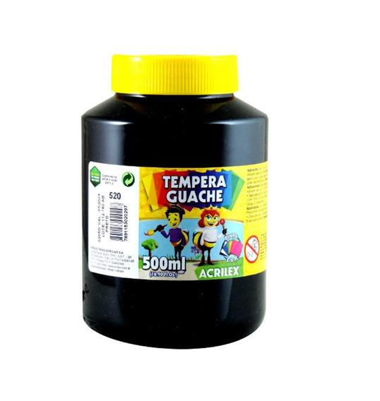Tinta Guache 500ml Acrilex - Preto