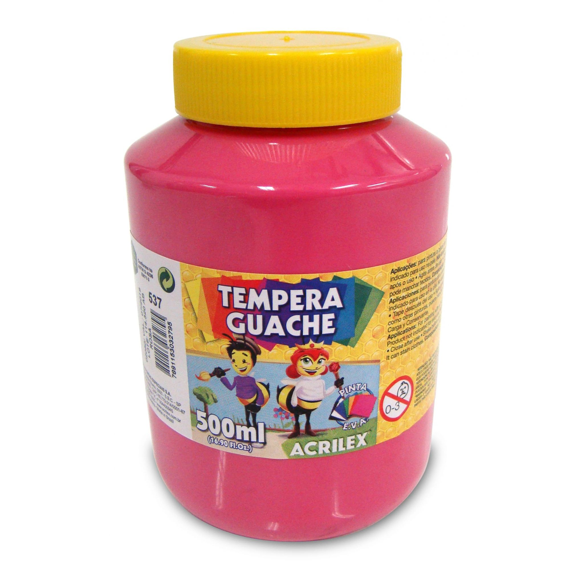 Tinta Guache 500ml Acrilex - Rosa