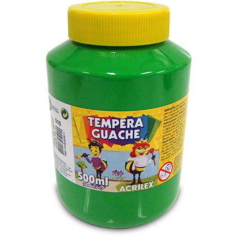 Tinta Guache 500ml Acrilex - Verde Folha