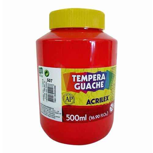 Tinta Guache 500ml Acrilex - Vermelho