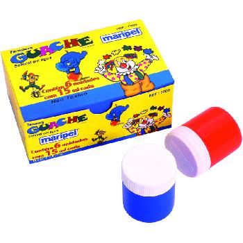 Tinta Guache 6 Cores - Maripel