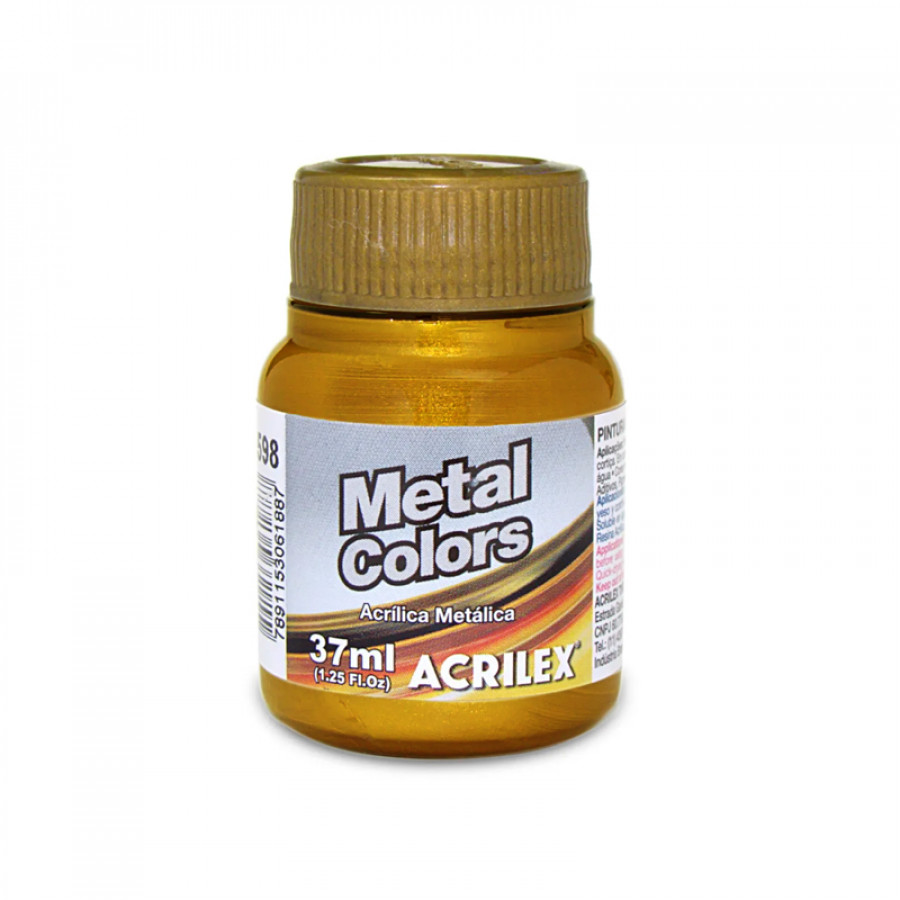 Tinta Metal Colors 37ml Acrilex