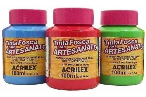 Tinta PVA Fosca Para Artesanato Acrilex 100ml
