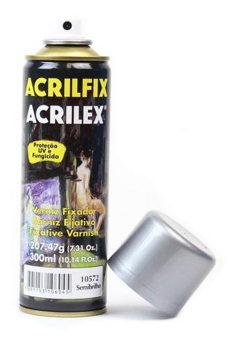 Verniz Spray Semibrilho Acrilfix 300 Ml Acrilex