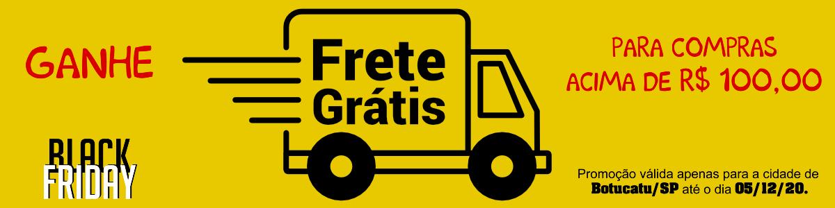 : Tenha frete grátis para compras acima de R$100,00 para cidade de Botucatu até dia 05/12/20.