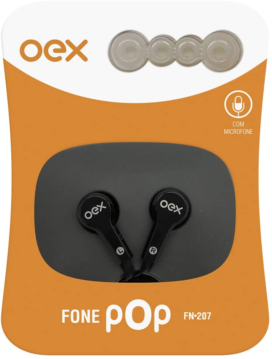 FONE OEX POP PRETO FN207