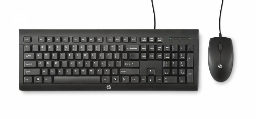 KIT TECLADO E MOUSE HP USB C2500