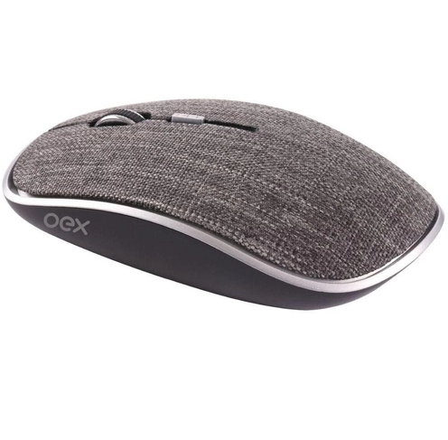 MOUSE OEX S/FIO TWILL CINZA