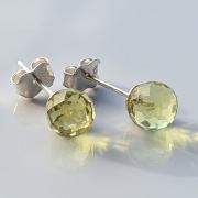 Brincos bolinhas green gold