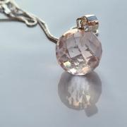Pingente quartzo rosa esfera