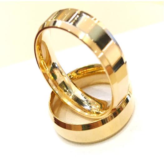 Aliança Diamantada Banhada a Ouro 18k Garantia Vitalícia