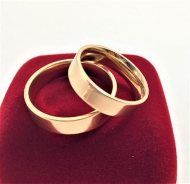 Aliança Reta Banhada A Ouro 18k Garantia Vitalícia