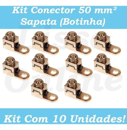 10 Unidades Terminal Sapata Aperto Pressão Cabos 50mm