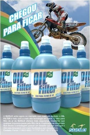 Óleo Para Filtro De Ar Suolo 500ml Motocross Trilha Enduro