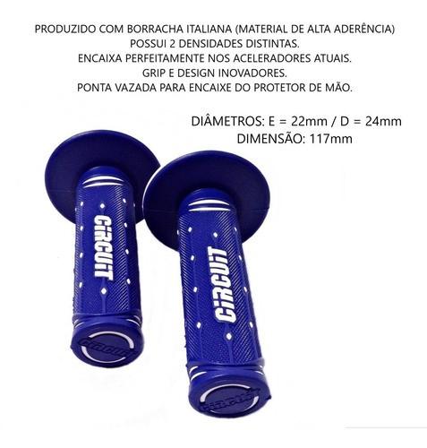 Manopla Circuit Azul Com Branco Motocross Enduro Trilha