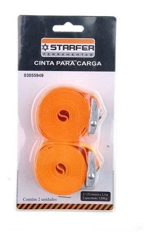 2 Cintas Para Carga 1 (25,4mm) X 2,5m Starfer