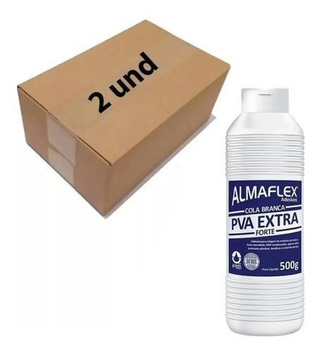 2 Cola Branca Almaflex Pva Extra Forte 500 Grs Madeira Papel