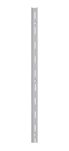 2 X Cremalheira Trilho Simples P/ Prateleira 2 Metros Branco