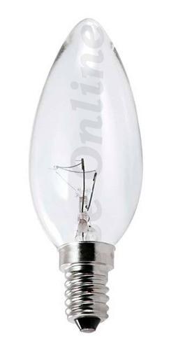 4 Lâmpada Vela 40w Rosca E-12 220v + 1 - 127v Incandescente