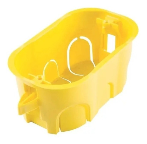50 Un Caixa Plastica Luz Drywall 4x2 Amarela Mondiale Pro