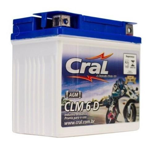 Bateria Selada Cral Moto Clm6 (6 Ah) Ktm Gasgas Honda Yamaha
