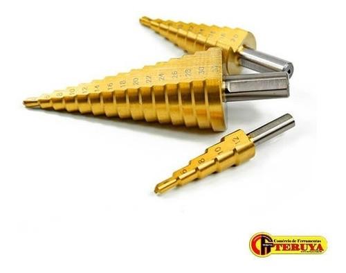 Broca Escalonada Kit 4-12, 4-20, 6-30mm 45982 O Melhor Kit!!
