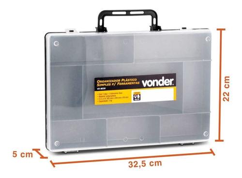 Caixa Organizadora De Plastico P/ Acessórios Vonder - Vd8020
