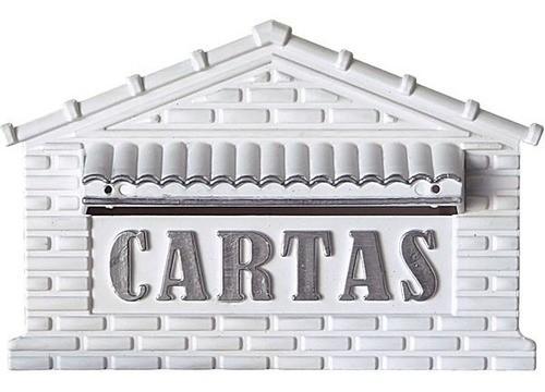 Caixa Para Carta/correio Em Pvc Real Branco/ouro Muro/portão