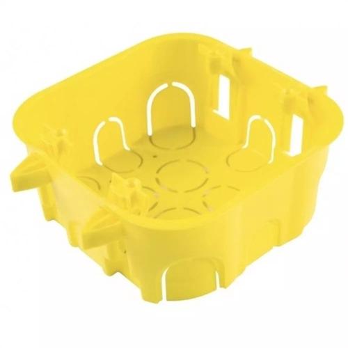 Caixinha Luz Drywall Tramontina 4x4 Amarelo (20 Unidades)