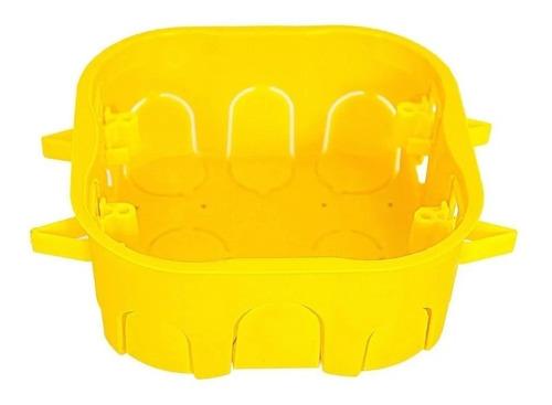 Caixinha Luz Plastica 4x4 Mondiale Amarela Drywal C/ 10 Uni