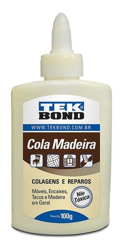 Cola P/madeira Tek Bond 100g Kit Com 12 Peças