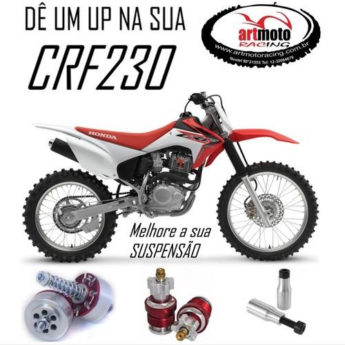 Combo Suspensão Crf 230 Valvula + Regulador + Alongador