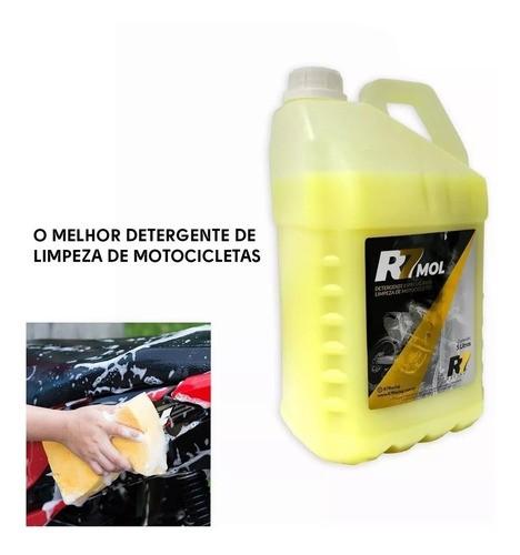 Detergente R7 Mol 5l Para Limpeza De Motocicletas Off Road