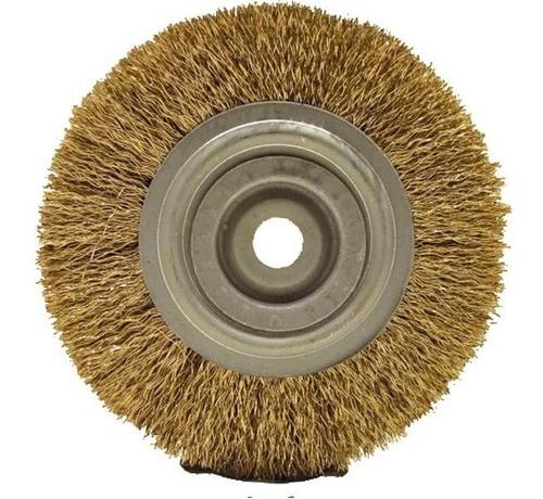 Escova Aço Circular Latonada A 6 X1/2x1/2